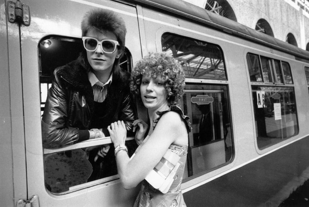 Музыкант Дэвид Боуи и его жена Энджи
