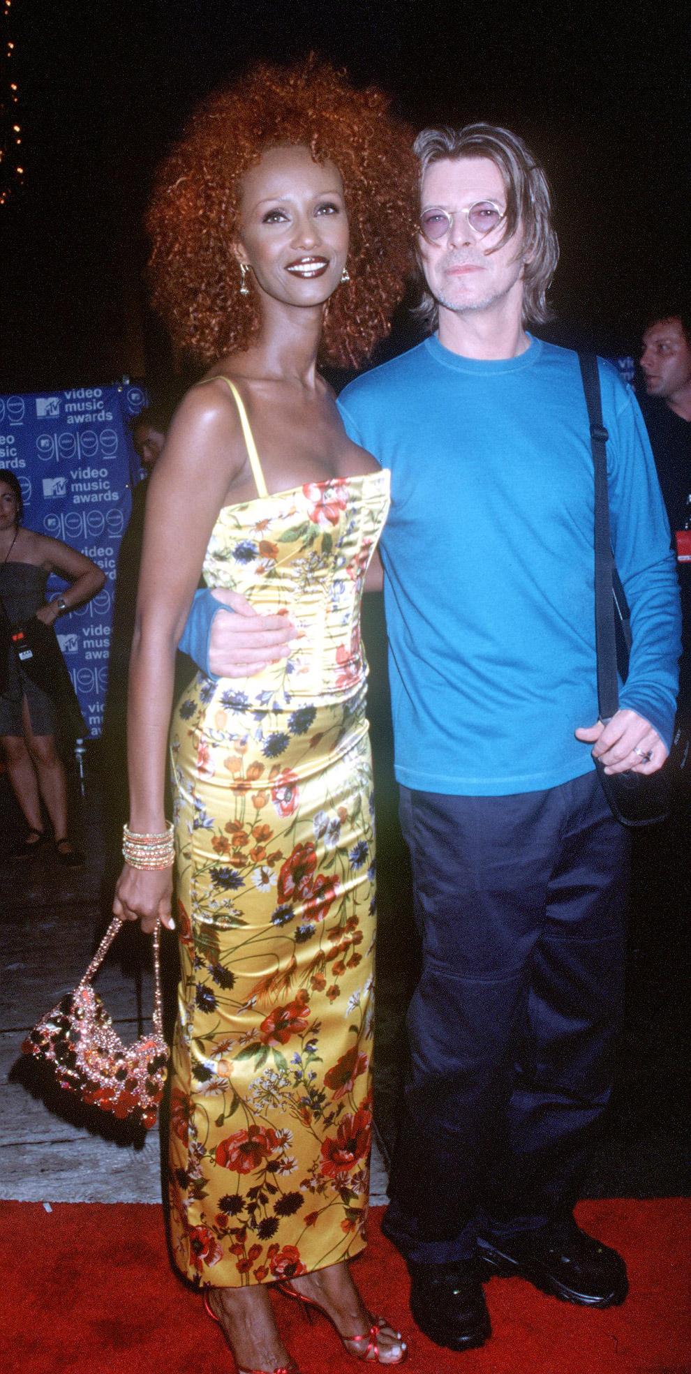 Дэвид Боуи и его жена, супермодель Иман Сомали