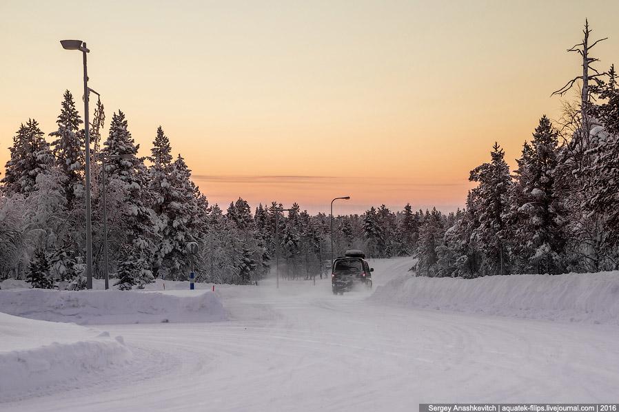 Финские дороги зимой