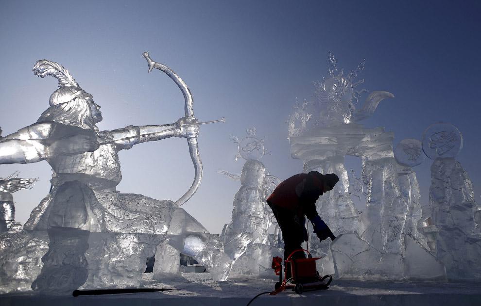 Полировка ледяных скульптур