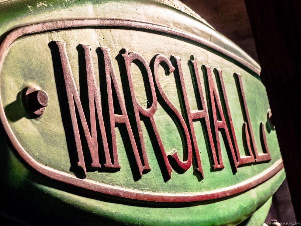 паровой каток английской марки Marshall