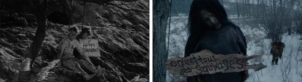 Кадры из фильмов «Иваново детство» и «Выживший»
