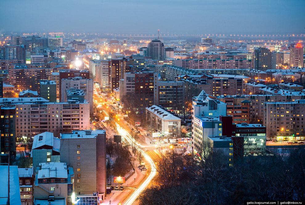 Улица Таймырская, переходящая в улицу Малыгина.