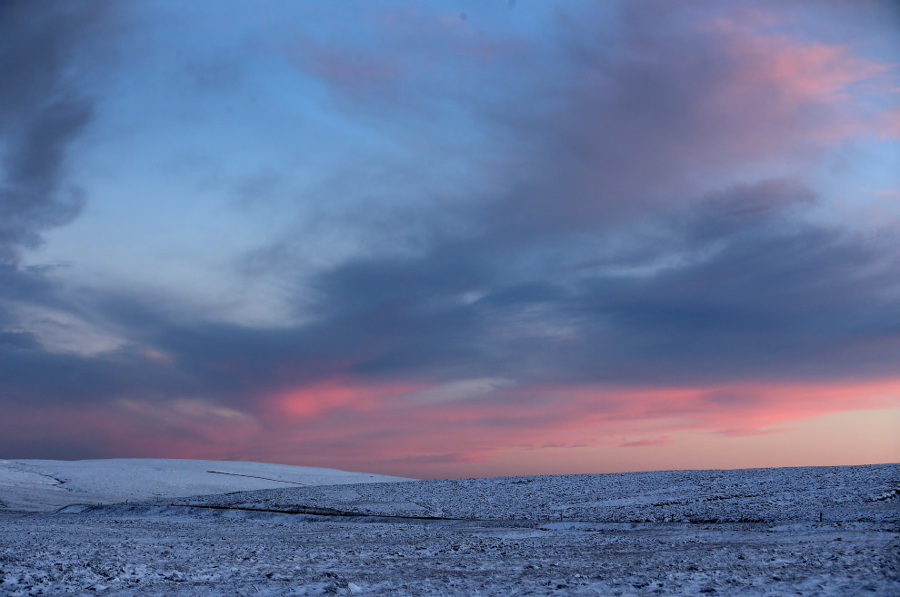 Зимние пейзажи возле города города Бакстон, Англия