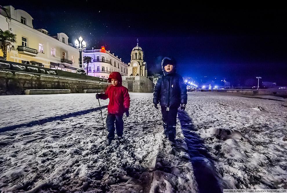 Снежная Ялта