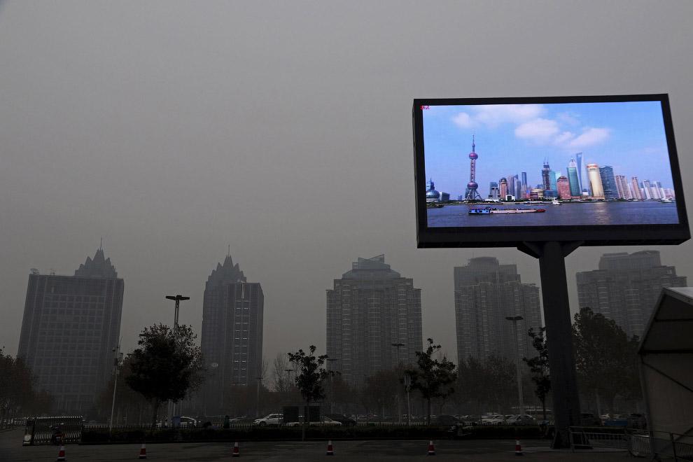 Телещит в Чжэнчжоу