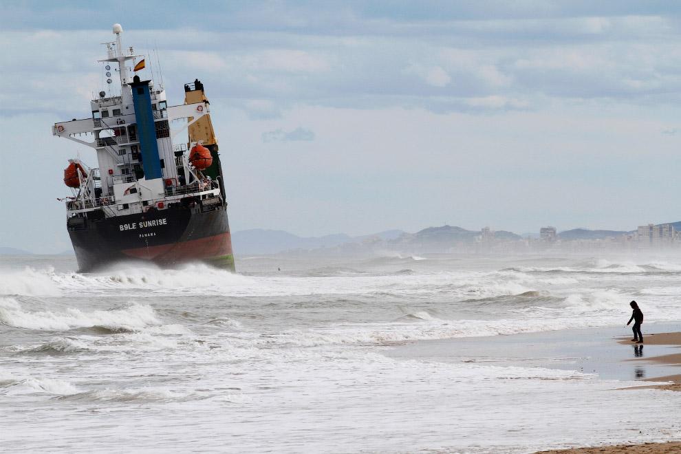 Еще один сухогруз на мели у берегов Валенсии