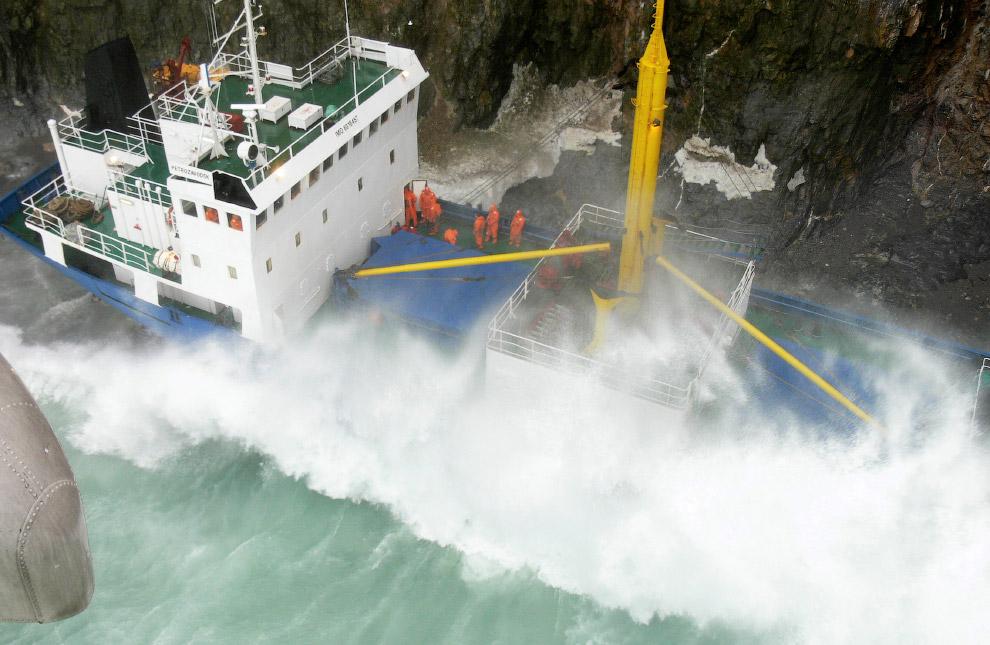 Российский корабль «Петрозаводск» сел на мель недалеко в Норвежском море