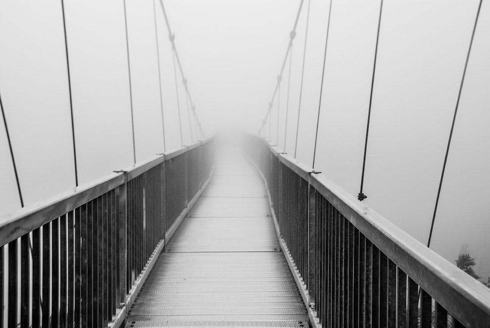 мост в тумане, Северная Каролина
