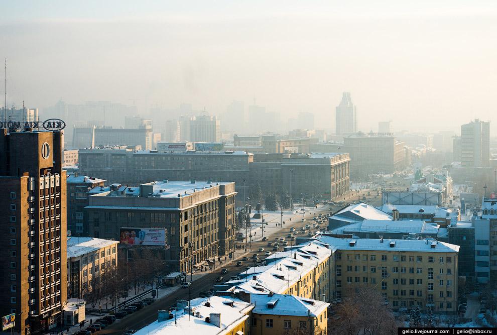 Красный проспект — главная улица Новосибирска.