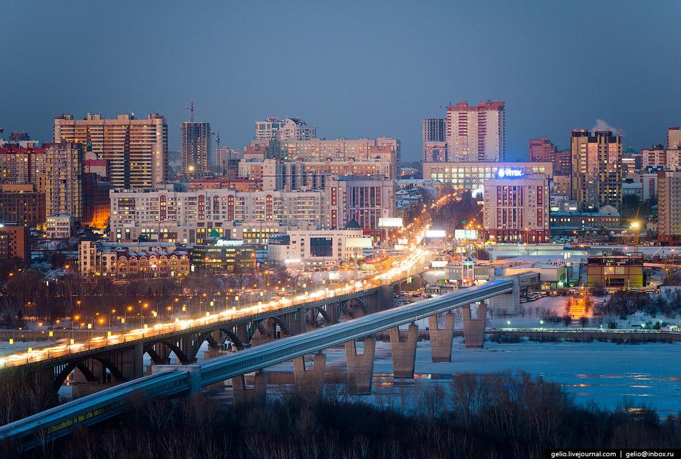 Октябрьский мост и метромост.