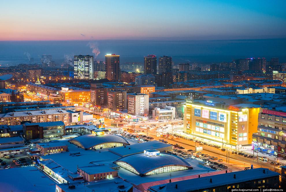 Центральный рынок и ТРЦ «Галерея Новосибирск».
