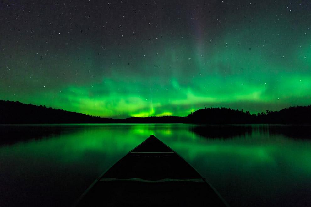 Северное сияние, Провинциальный парк Кветико, Канада