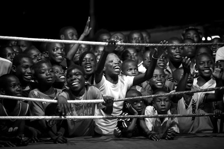 На боксерском матче в Гане
