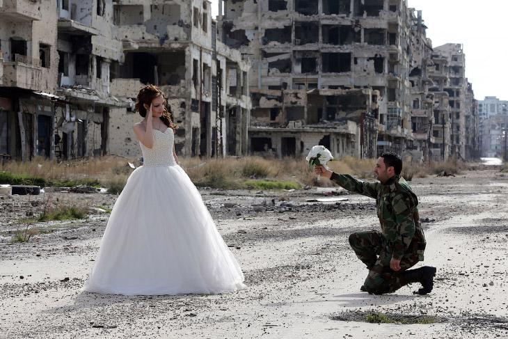 Молодожены в руинах или свадьба по-сирийски