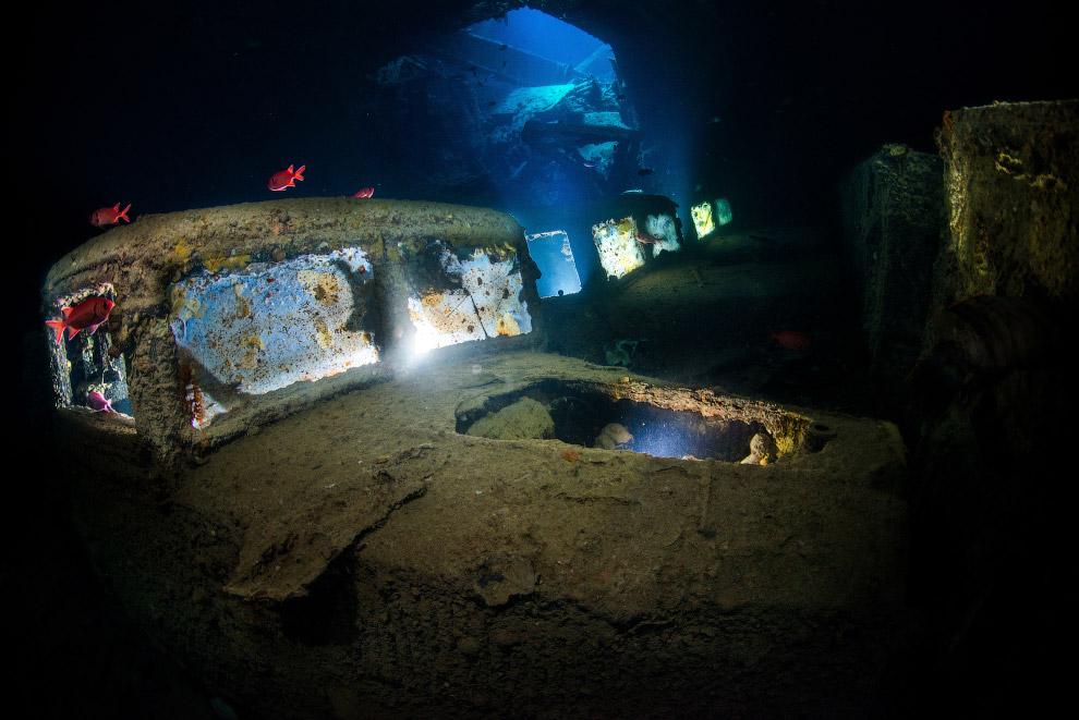 Подводная стоянка грузовиков в Красном море, Египет