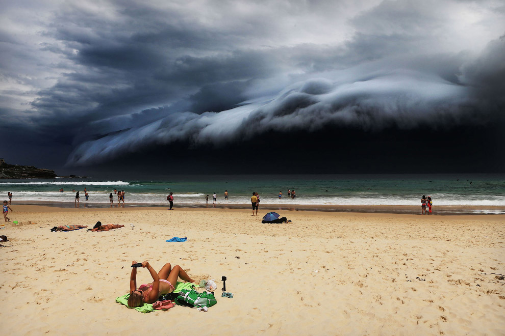 Storm Front on Bondi Beach