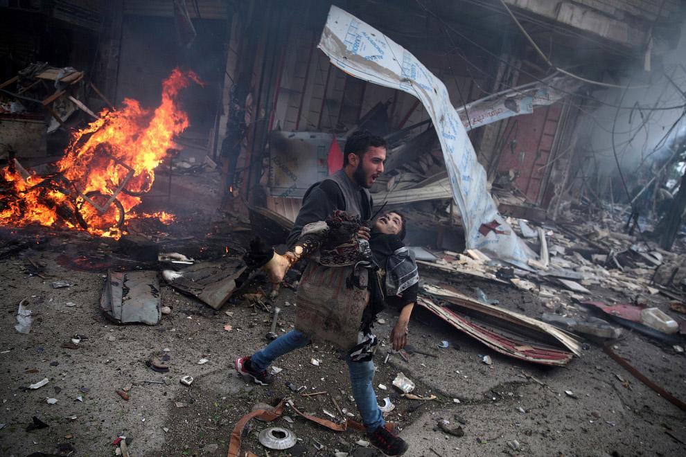 Убитый ребенок в Сирии