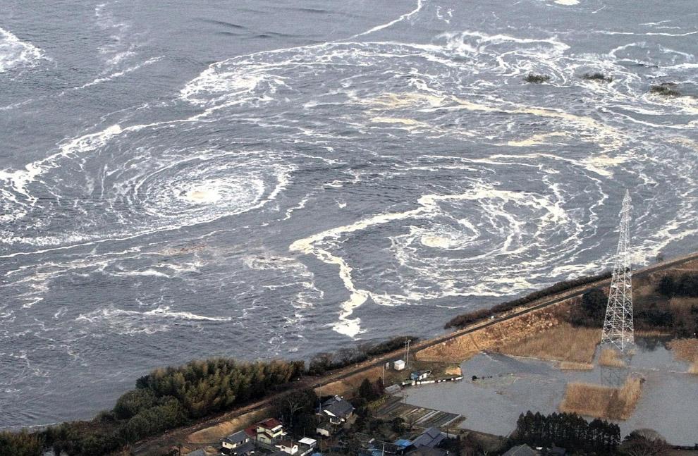 Водовороты в городе Иваки, префектура Фукусима