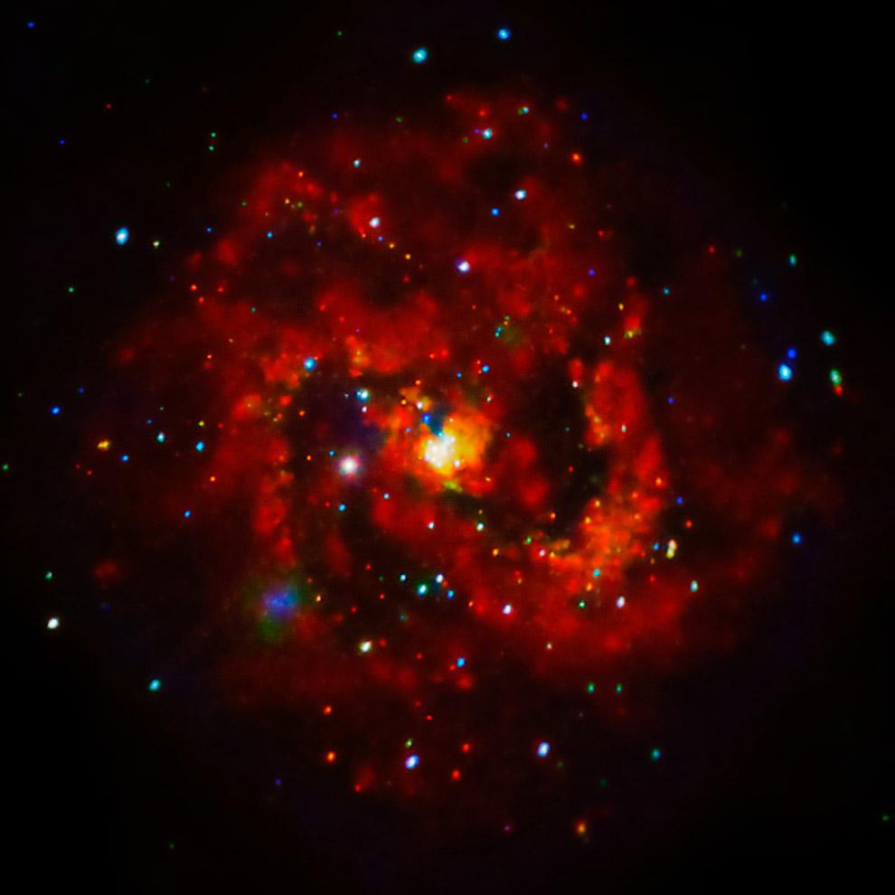 Рентгеновские лучи молодой сверхновой в галактике M83