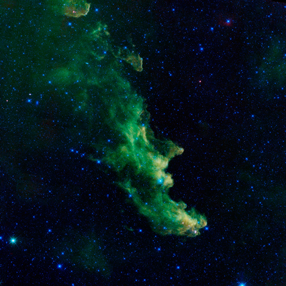 Отражательная туманность Голова Ведьмы (IC 2118) в созвездии Эридана