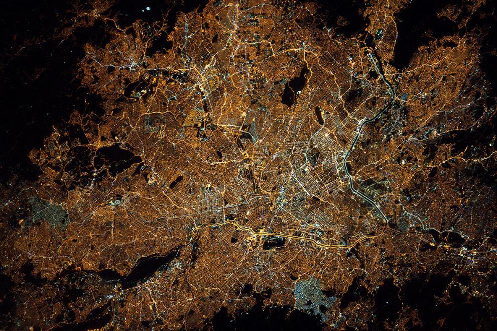 Сан-Па́улу, Бразилия с Международной космической станции