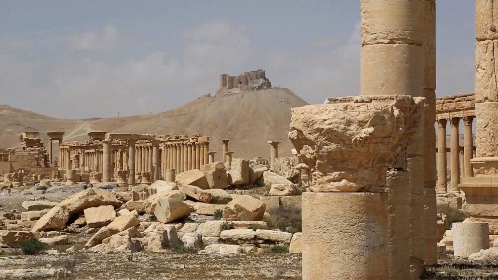 Вид древних руин Пальмиры