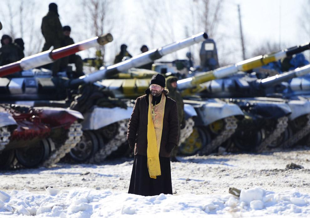 Без священников нынче никуда. Полигон в Хабаровском крае