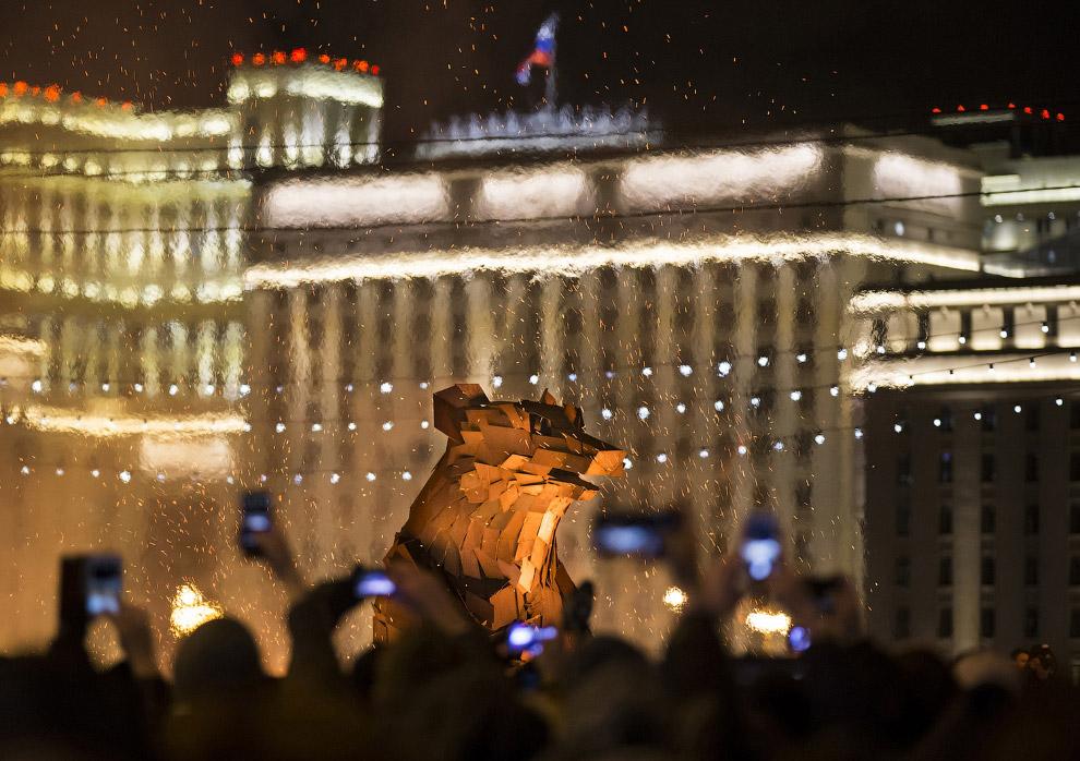 Масленица в парке имени Горького в Москве