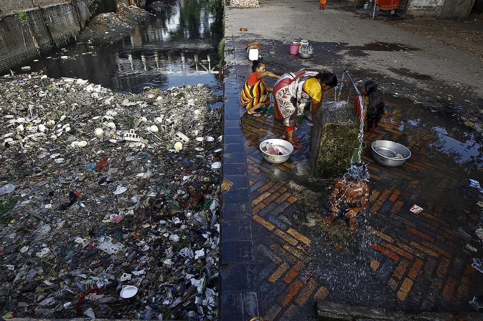 Так у некоторых начинается утро в Калькутте, Индия
