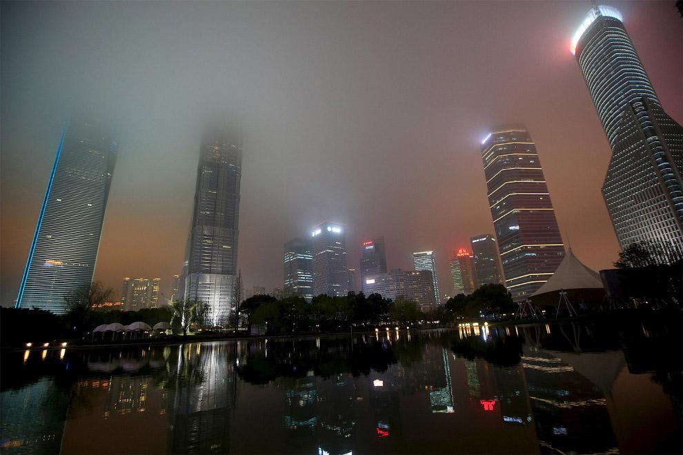 Финансовый район Пудун в Шанхае