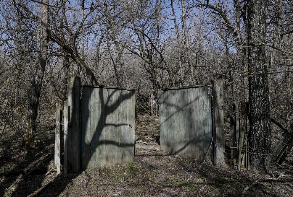 Заброшенное село Залесье около Чернобыльской АЭС