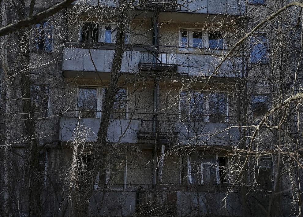 Бывшие жилые дома в Припяти