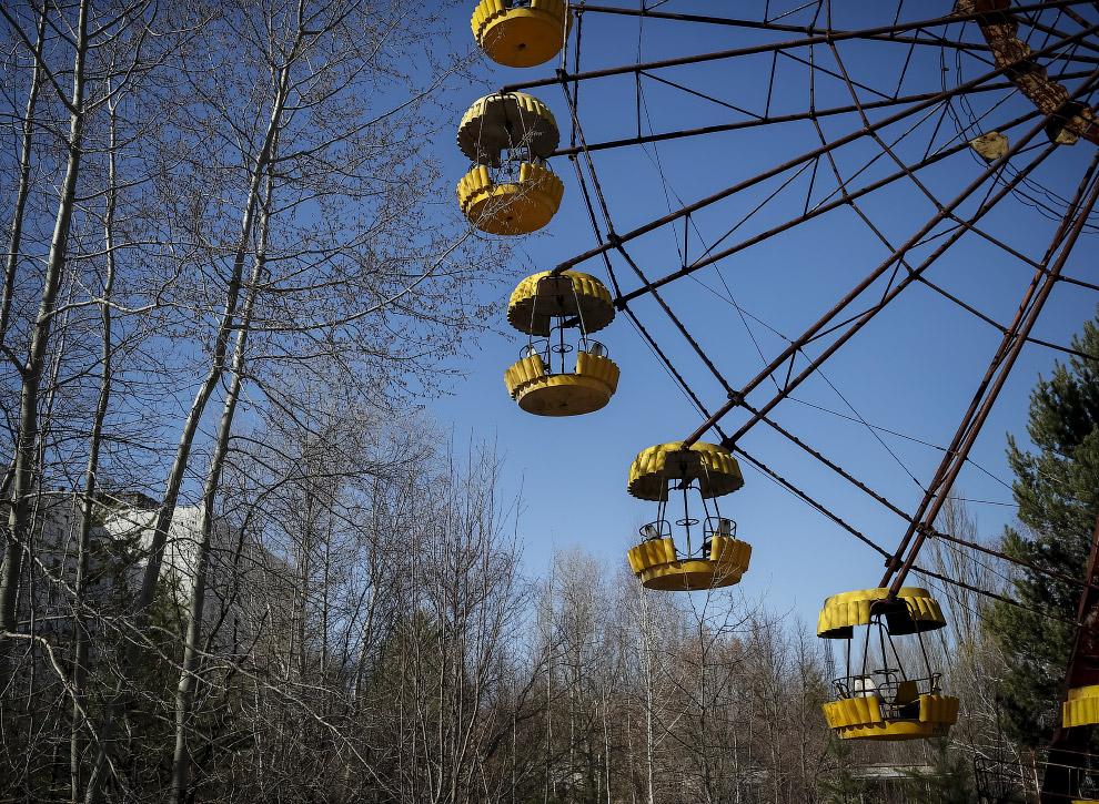Бывший парк развлечений в Припяти