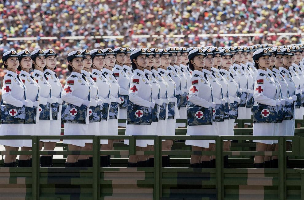 Военный парад на площади Тяньаньмэнь в Пекине
