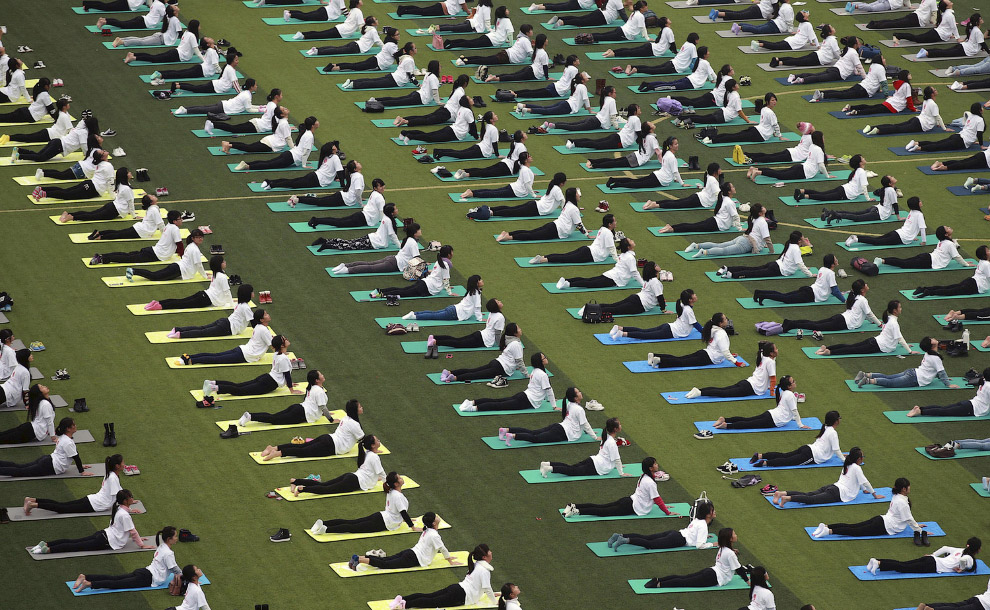 Групповые занятие по йоге, Гуанси-Чжуанский автономный район