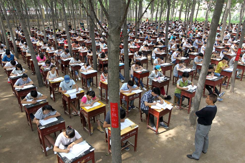 Выпускные экзамены в средней школе, провинция Хэнань