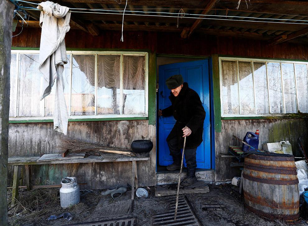 Иван Шеменок в селе Тульговичи