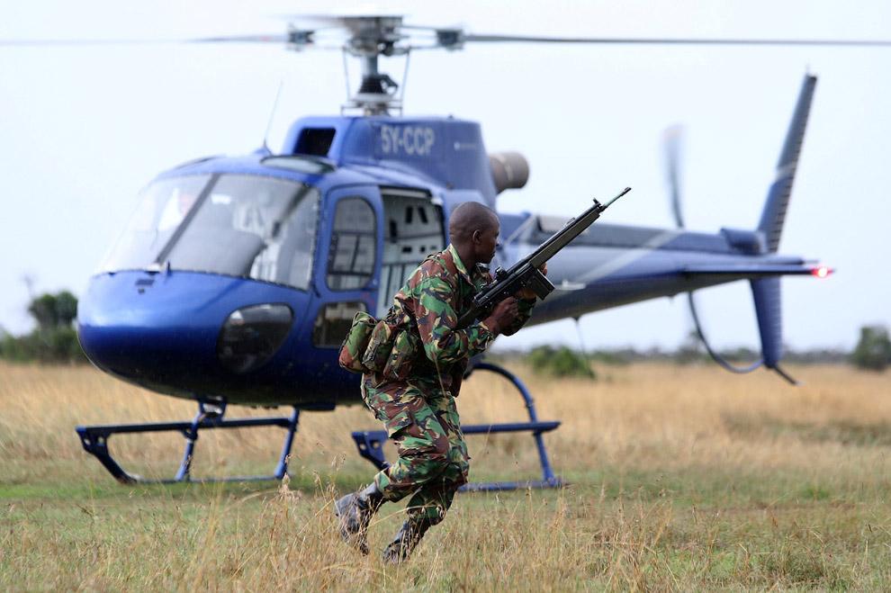 Кенийские рейнджеры на учениях