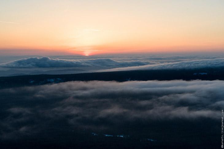 Метеостанция. Рассвет над облаками