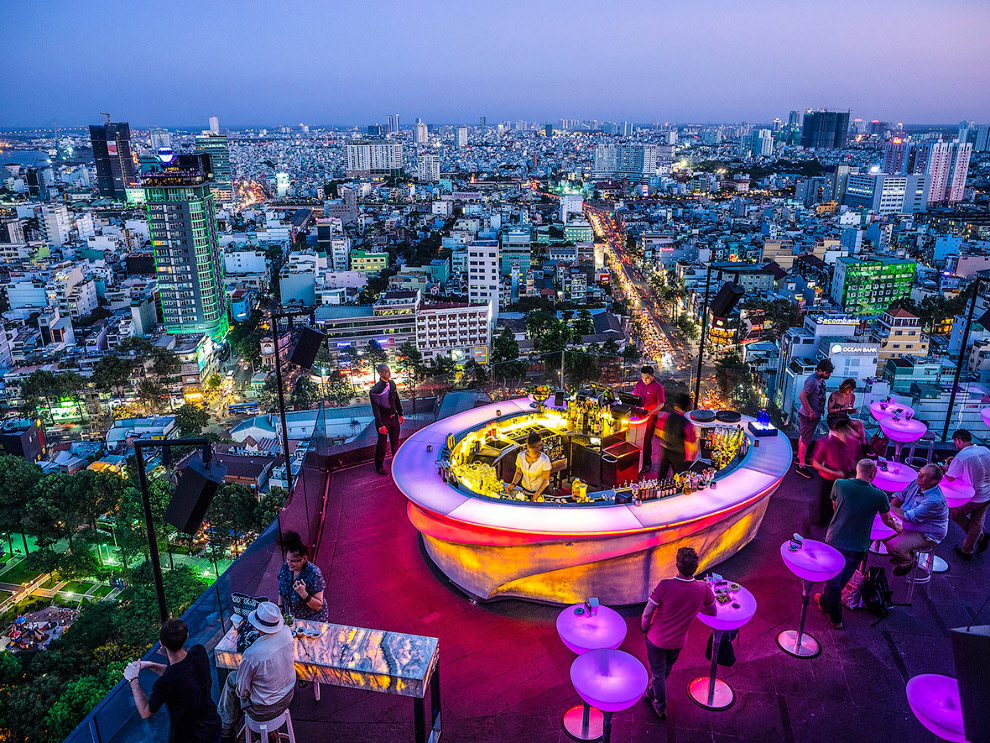 Бар на вершине. Хошимин, Вьетнам