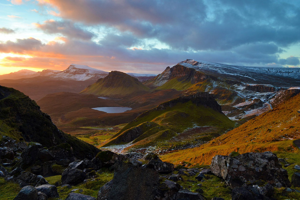 Раннее утро на острове Скай, Шотландия