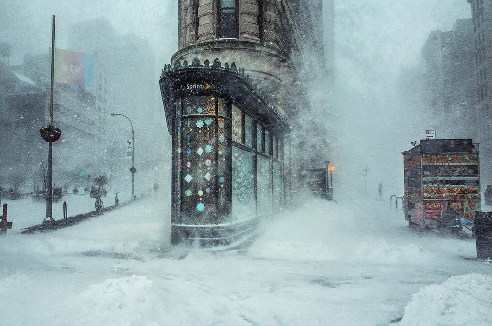 Снежный Нью-Йорк