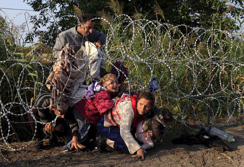 Пересечение границы Венгрии с Сербией