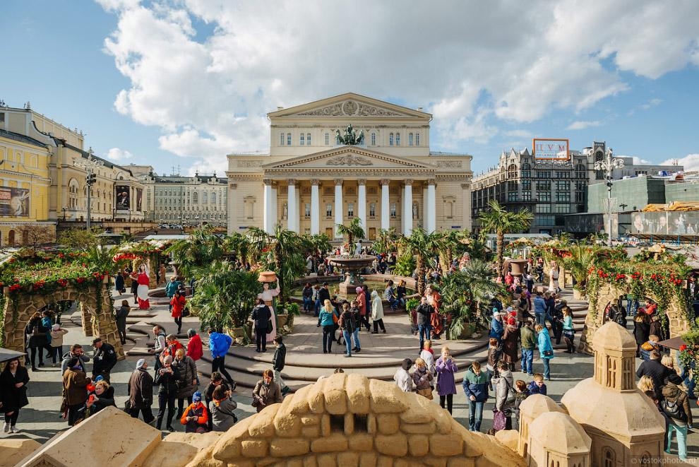Пальмы на Театральной площади