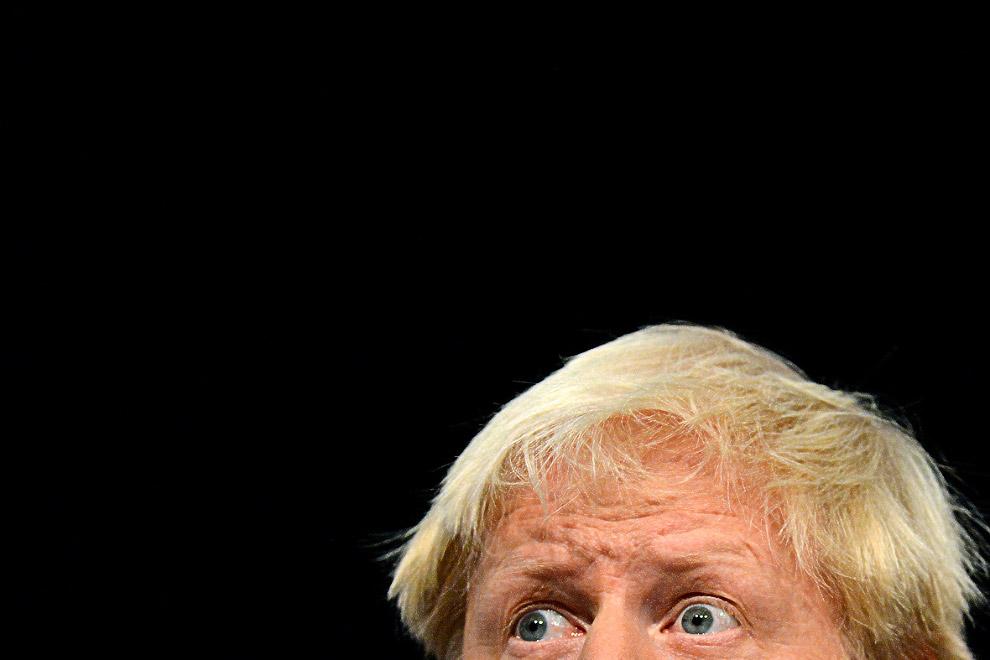 Борис Джонсон произносит программную речь на конференции Консервативной партии в Бирмингеме