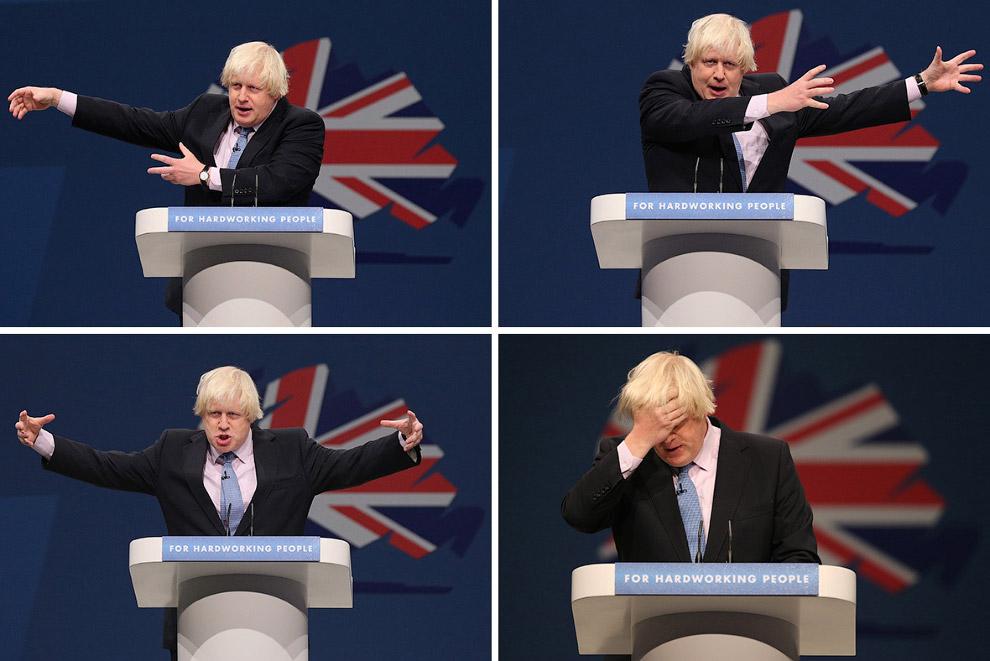 Борис и его речь на съезде консервативной партии в Манчестере