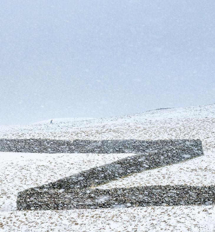 Зигзаги в полях Северного Йоркшира