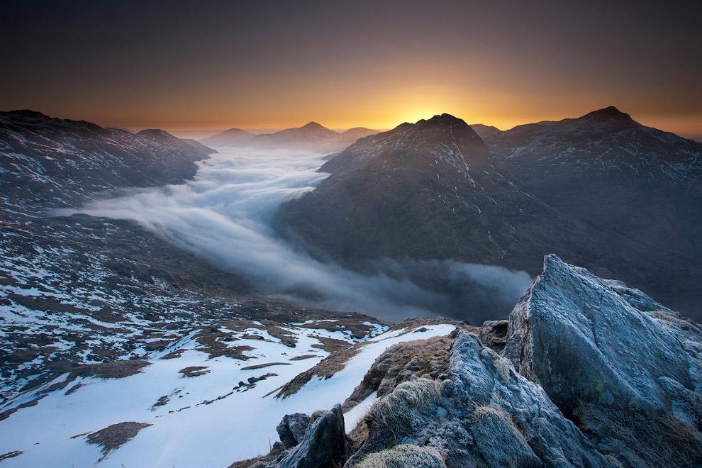Облака, живущие в горах Шотландии
