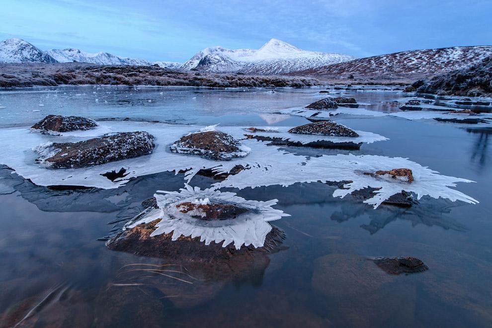 Ледяные ландшафты Шотландии